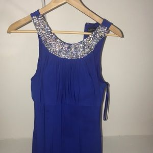 Royal blue formal prom evening gown